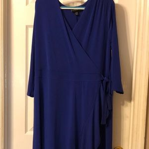Lane Bryant size 14 faux wrap dress